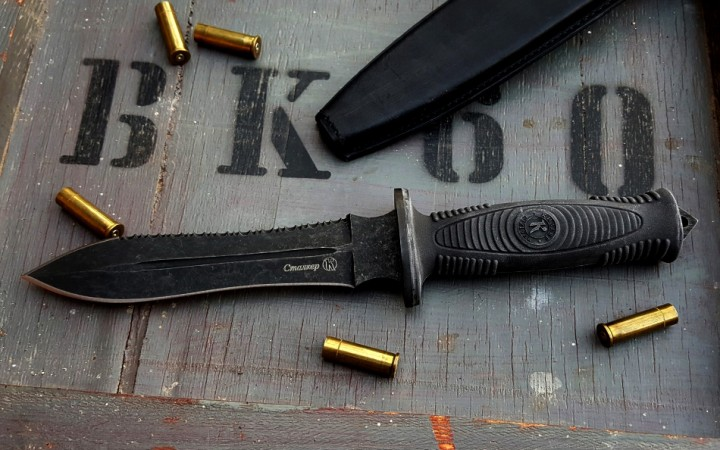 Stalker Combat black line SERRATED